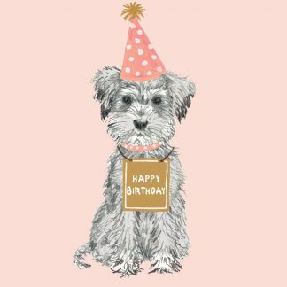 Cute Happy Birthday Dog Themed Card Send The Perfect And Let It Be