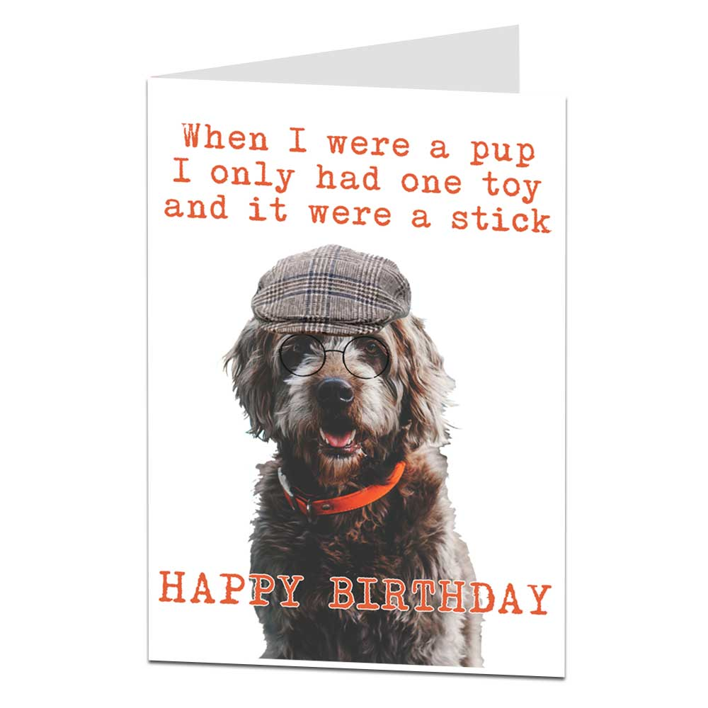 When I Were A Pup Dog Themed Birthday Card