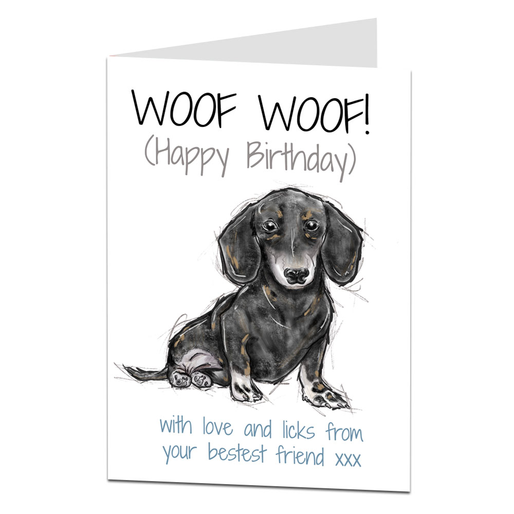 Daschund Birthday Card